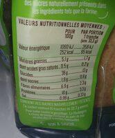 Pain de mie BIO à la farine complète Sans Sucres Ajoutés - 500g - Valori nutrizionali - fr