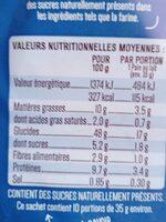 10 pains au lait frais - Valori nutrizionali - fr