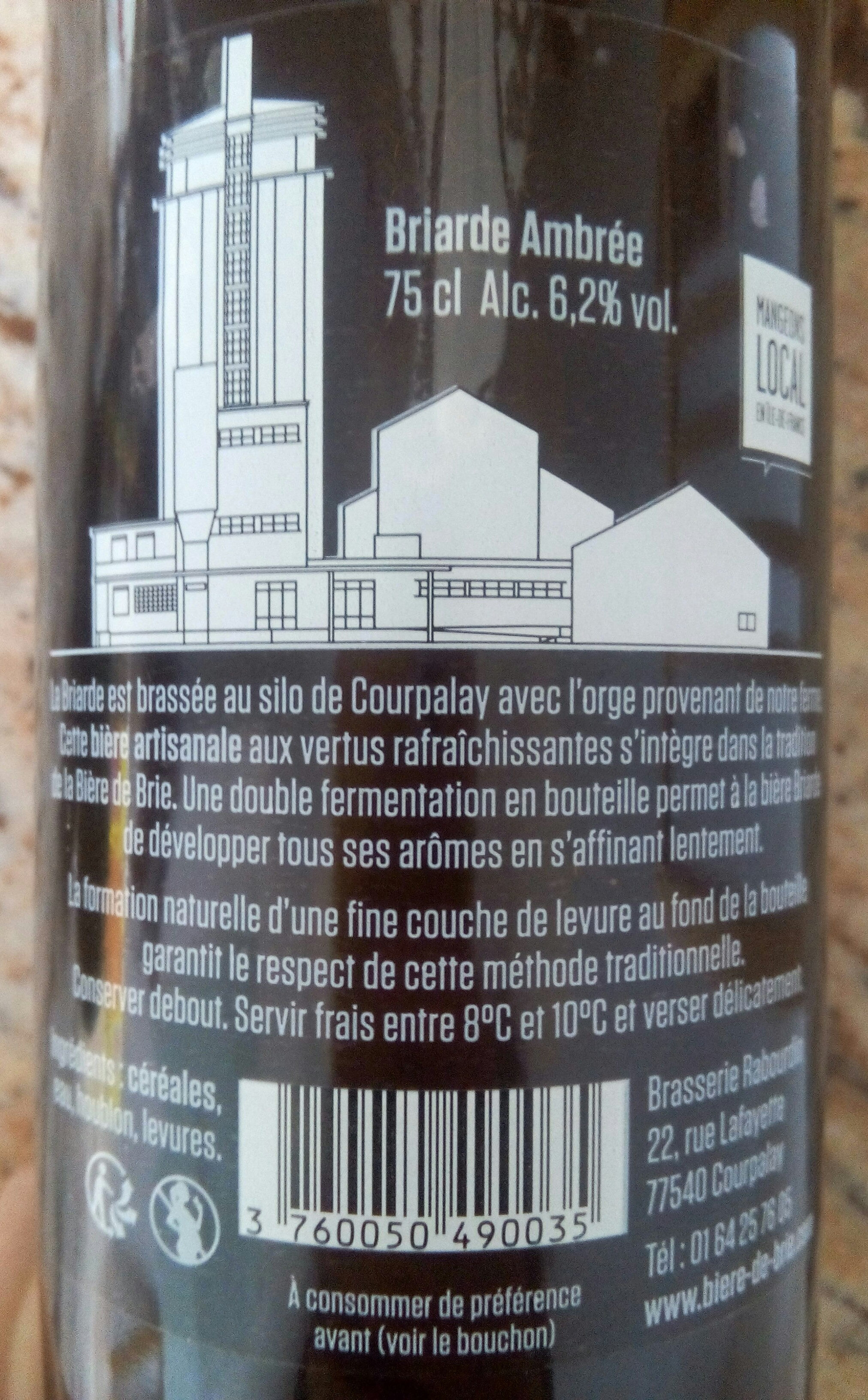 BRIARDE AMBRÉE - Ingredients