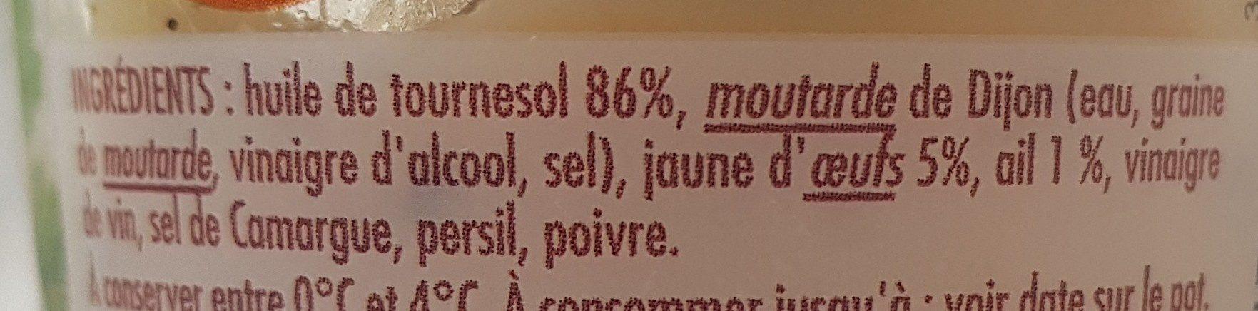 Sauces Aïoli doux en ail - Ingrédients - fr