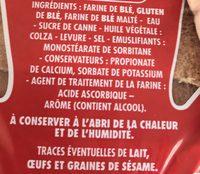 Canadian Sandwich Nature - Ingrédients - fr