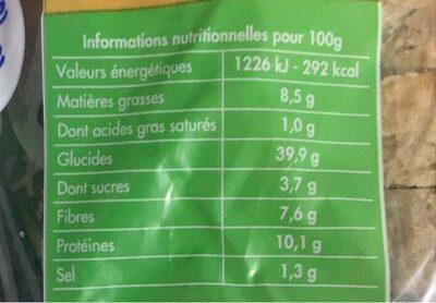 Le multi cerales - Voedingswaarden - fr