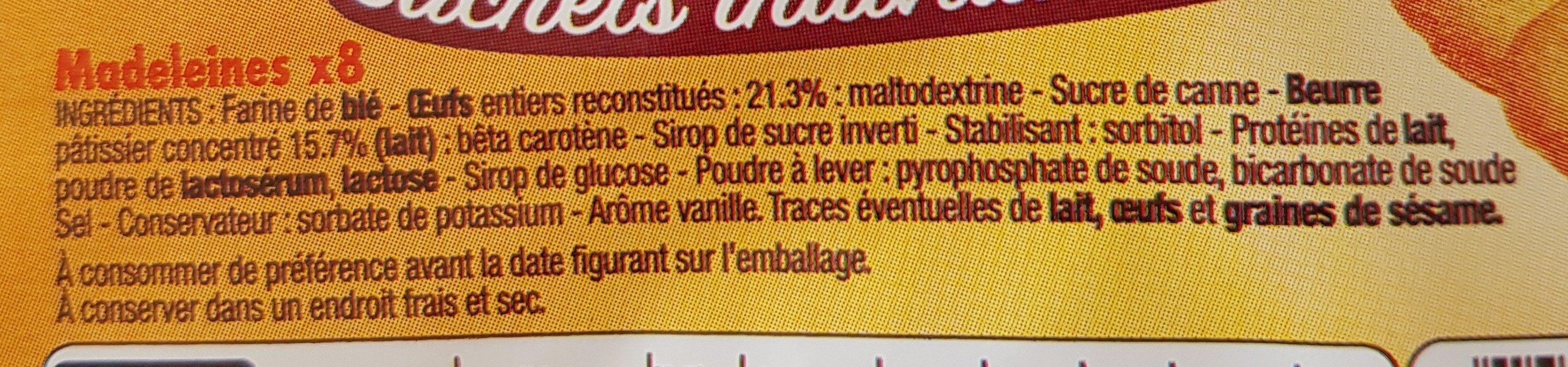 Madeleines Sachets individuels x8 - Ingredienti - fr