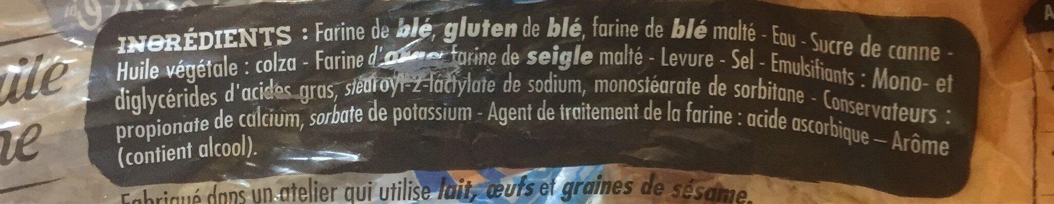 Maxi Burger Nature - Ingrédients - fr