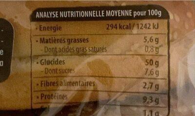 Maxi Burger Nature - Informations nutritionnelles - fr