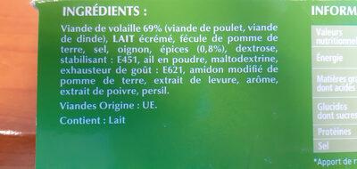 Le Kebab Lamelles - Ingrédients - fr