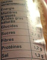 Soupe aux Lentilles et Carottes - Nutrition facts