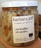 Riz lentilles et carottes - Product - fr