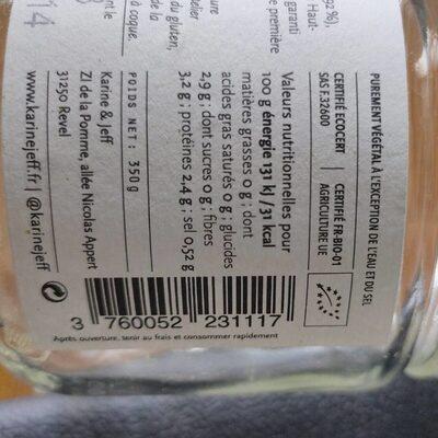 Purée d'épinards - Informations nutritionnelles - fr
