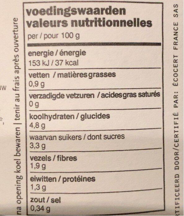 Légumes pour Couscous - Voedingswaarden - fr