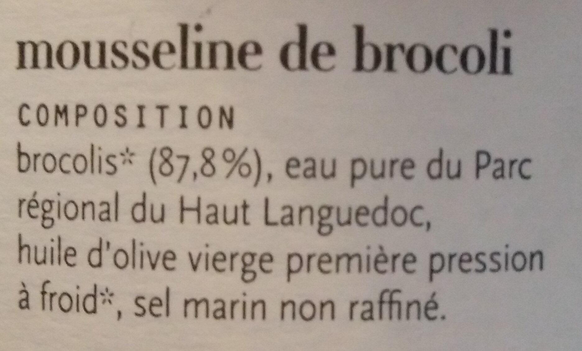 Mousseline de Brocoli - Ingrédients - fr