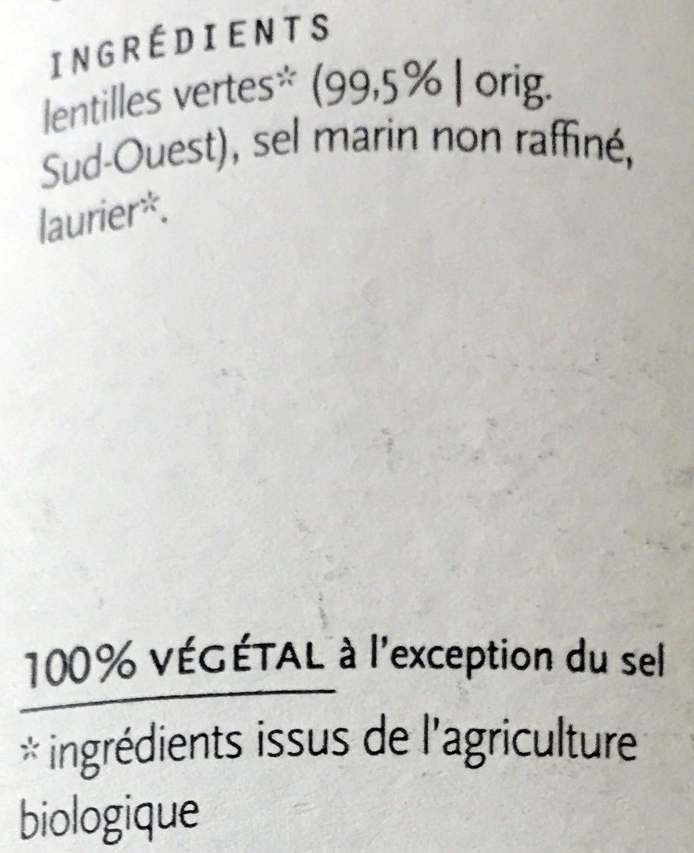 Lentilles au naturel - Ingrediënten - fr