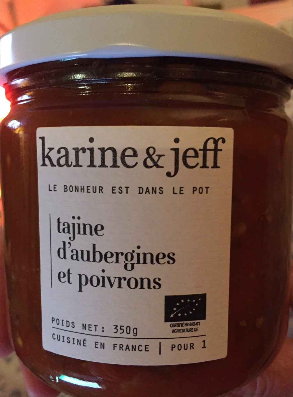 tajine d'aubergines et poivrons - karine et jeff - 350 g