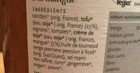 Cocotte de tofu à la mangue - Ingrediënten