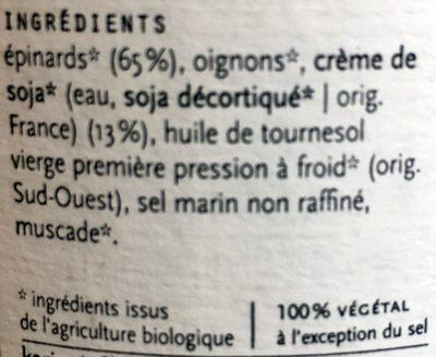Epinards à la crème - Ingredients