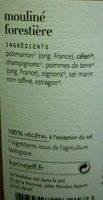 Mouliné forestière - Ingredients