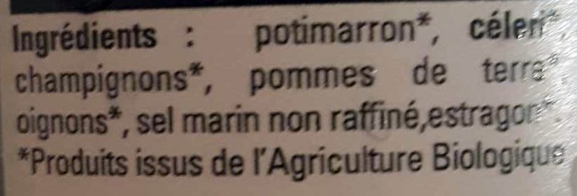 Mouliné forestière - Ingredients