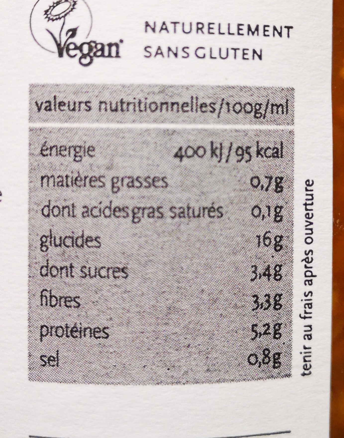 Lentilles à la créole - Voedingswaarden - fr