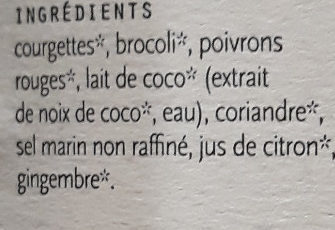 Soupe Thaï - Ingrédients