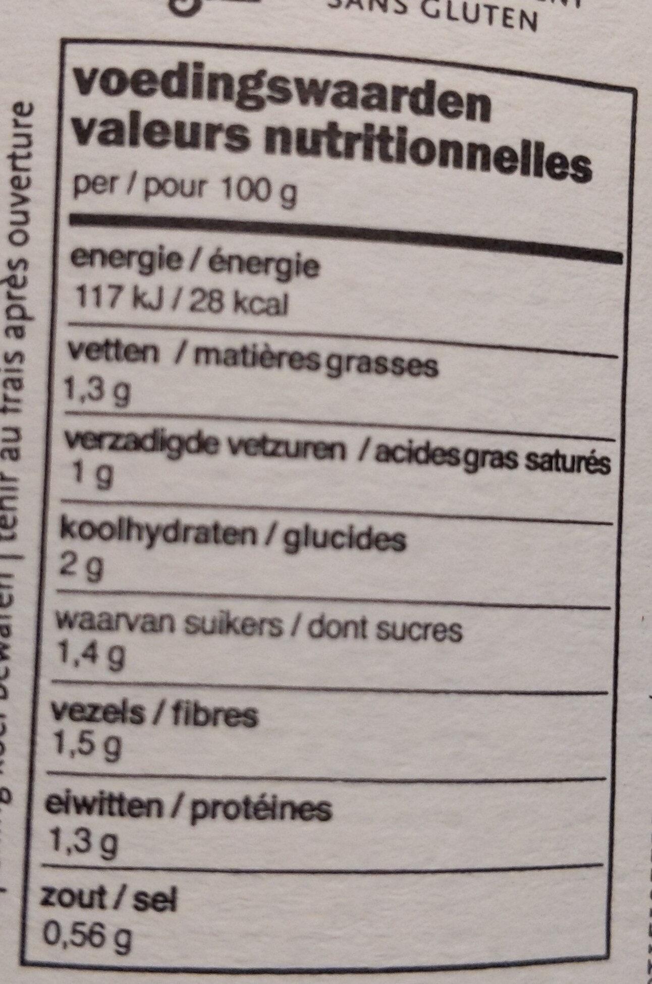 Soupe Thaï - Informations nutritionnelles - fr