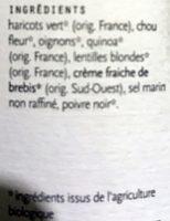 Soupe des Andes - Ingrediënten - fr