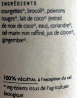 Soupe Thaï - Ingredients - fr