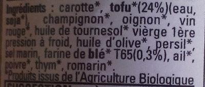 Tofu Bourguignon - Ingredients