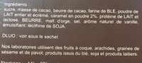 Dentelle et Chocolat - Ingredients