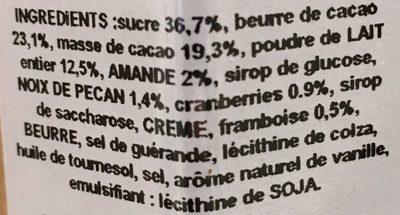Barres de chocolats cône - Ingrediënten - fr