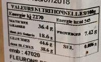Barres de chocolats cône - Voedingswaarden - fr