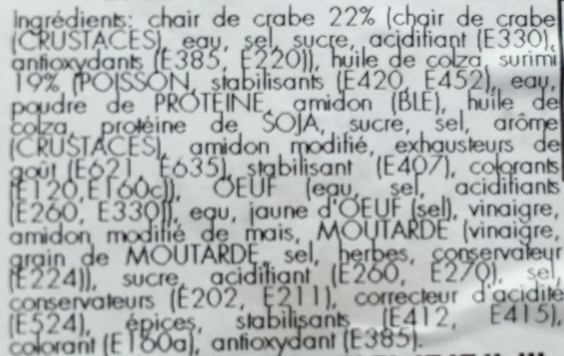 Salade au Crabe-Surimi - Ingrédients - fr