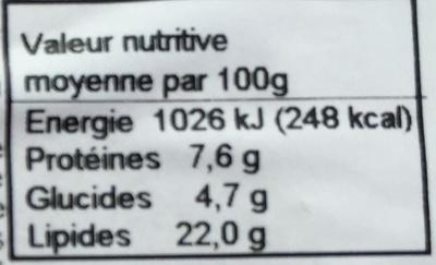 Salade au Crabe-Surimi - Informations nutritionnelles - fr