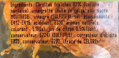 Carotte rapee premium - Ingrédients - fr