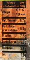 Carotte rapee premium - Voedingswaarden - fr