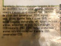 Taboule Oriental a lhuile d'olive - Ingrédients