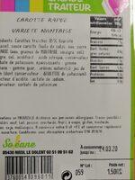 Carotte râpé 1,5kg - Ingrédients - fr