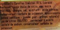 Carotte râpée 230g - Ingredients - fr
