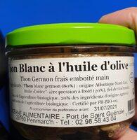 Thon Blanc à l'huile d'olive - Ingredienti - fr