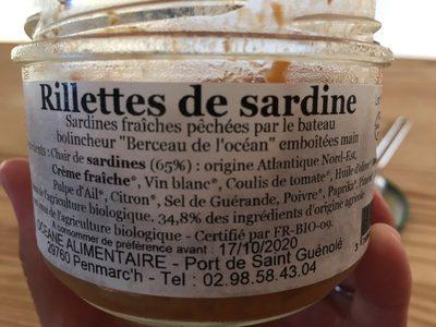 Rillettes de sardine - Ingrédients - fr