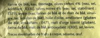 Fougasse Olives - Ingrediënten - fr