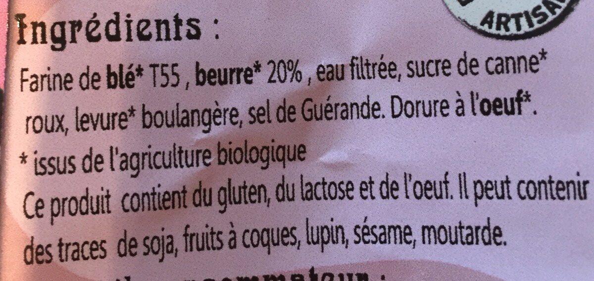 Croissants Pur Beurre - Ingrediënten