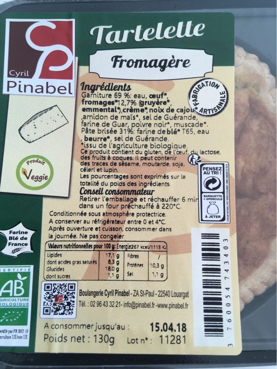 Tartelette Fromagère - Product