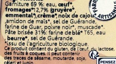 Tartelette Fromagère - Ingredients