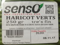 Haricots verts - Ingrédients - fr