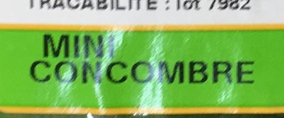 Mini Concombre - Ingrédients