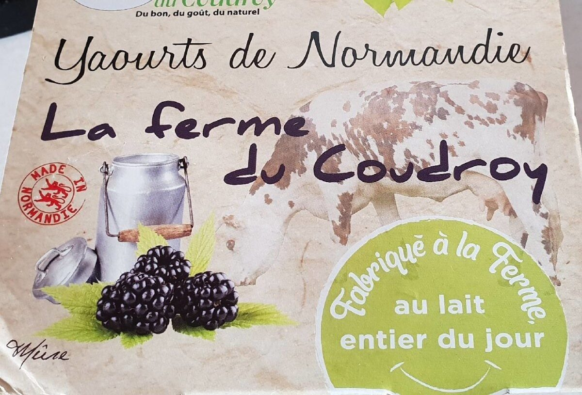 Yaourts de Normandie Mûre - Product
