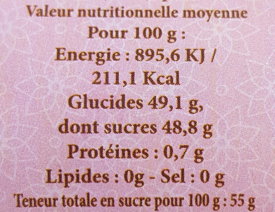Framboise épépinée - Informations nutritionnelles - fr