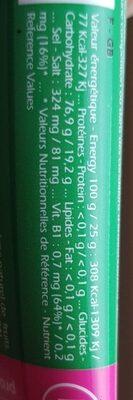 Gel Energétique Speed Fruits - 25 G - Punch Power - Informations nutritionnelles - fr