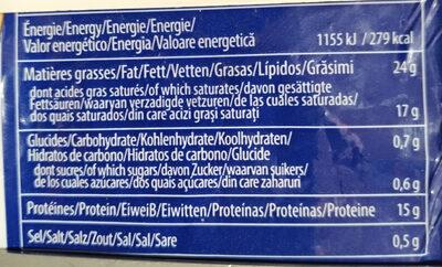 Mozzarella di latte di Bufala - Nutrition facts - fr