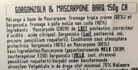 C. Azzura Gorgonzola Et Mascarpone - Ingrediënten - fr
